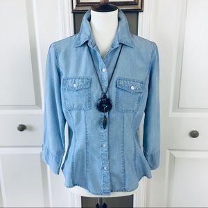 Liz Claiborne Chambray Shirt Size Medium